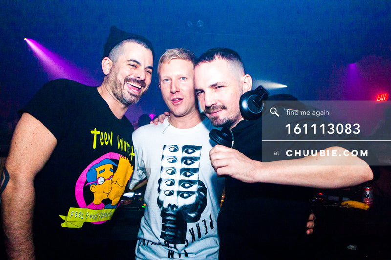 161113083 | Smiling group shot of DJs Nita Aviance & Will Automagic (The Carry Nation) w/ Jonjo Jury. — T... | Team Chuubie