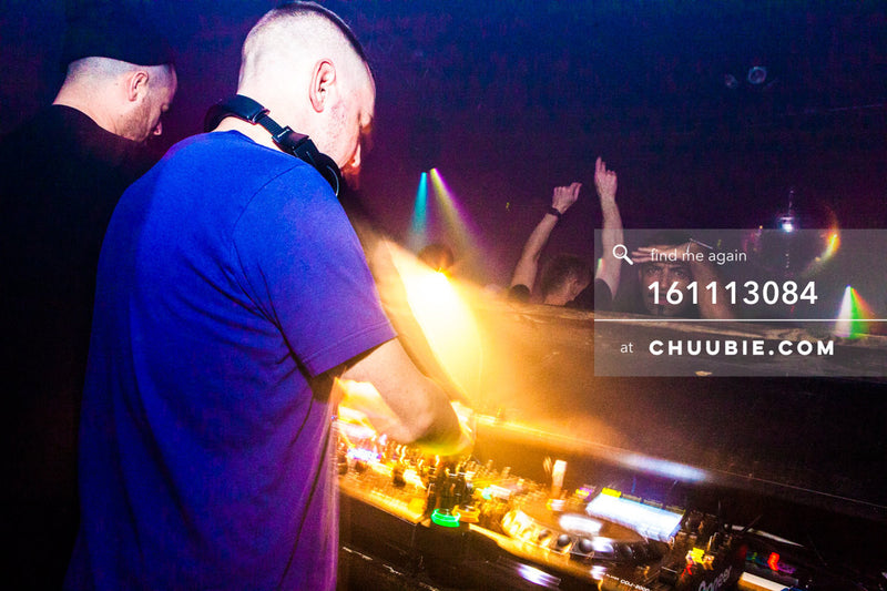 161113084 | Behind the decks shot of DJs Nita Aviance & Will Automagic (The Carry Nation) onto dance floo... | Team Chuubie
