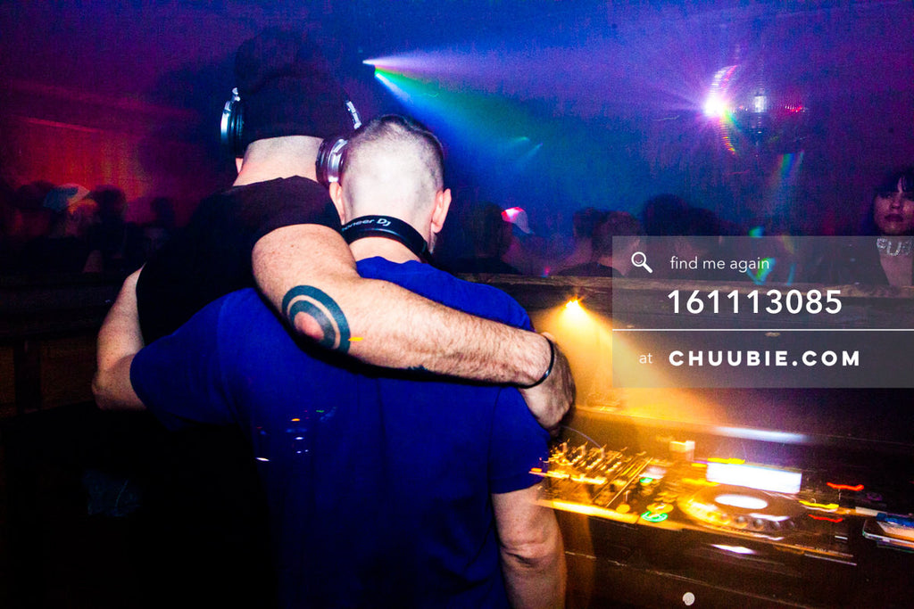 161113085 | DJs Nita Aviance & Will Automagic (The Carry Nation) hug, behind the decks. — The Carry Natio... | Team Chuubie