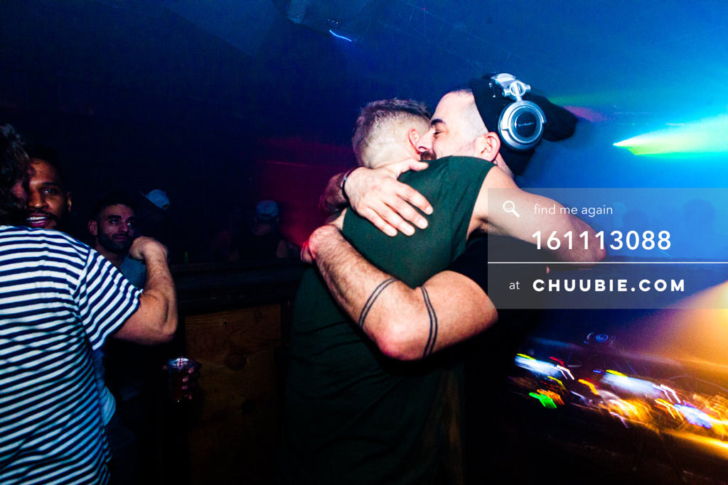 161113088 | Hugs behind the DJ booth with Nita Aviance. — The Carry Nation w/ Sweat Equity & Jonjo Jury. ... | Team Chuubie
