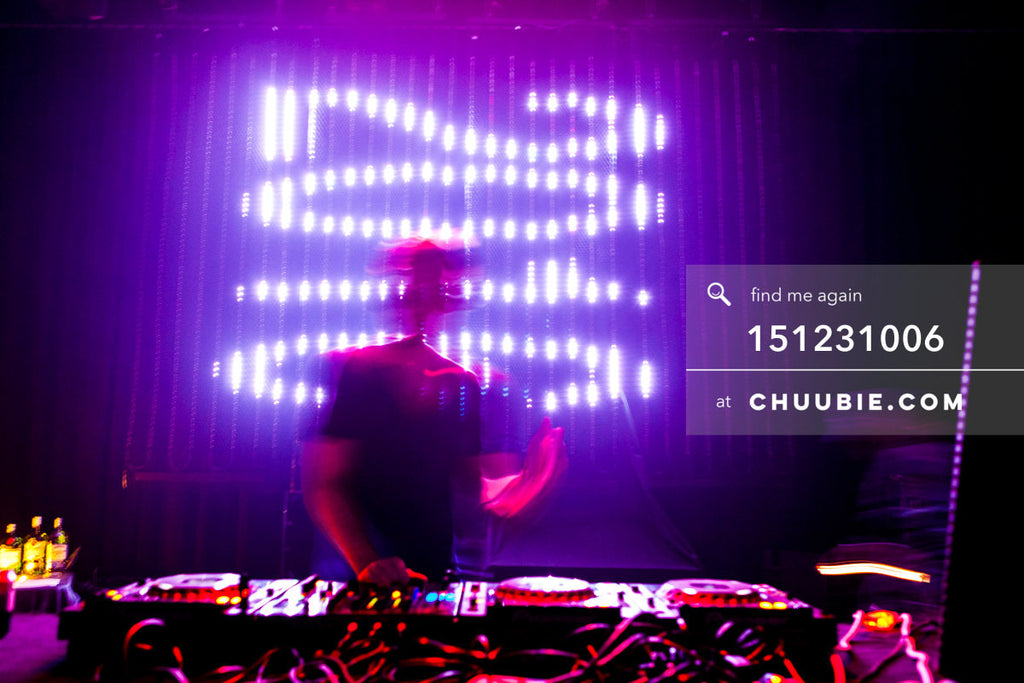 151231006 | Gavin DJs in front of the 2016 LED countdown sign.  —Tal Ohana's ZigZag Deep NYC. New Year 2016 w... | Team Chuubie