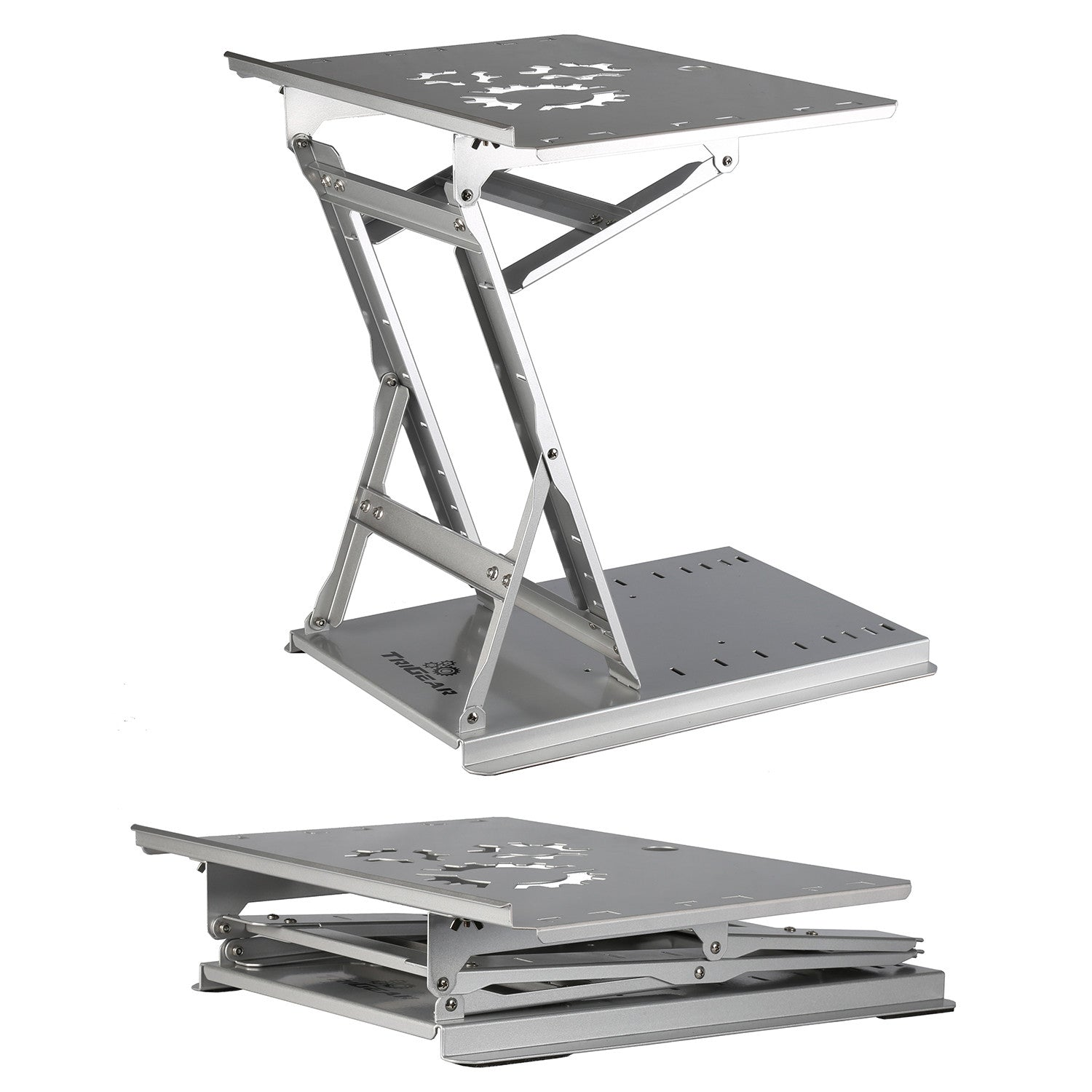 ... TriGear Premier 81 Adjustable Height U0026 Angle Options Laptop Desk Stand  W/ Over 100LBS Capacity ...