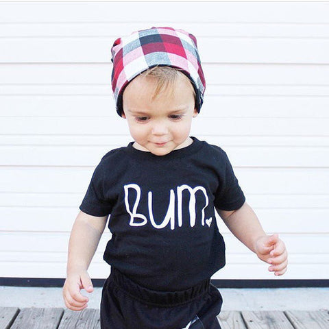 "The Black ""Bum"" T-shirt & Onesie"