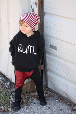 "The Black ""Bum"" Hoodie Sweatshirt"