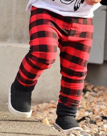 "The ""Red Buffalo Plaid"" Leggings"