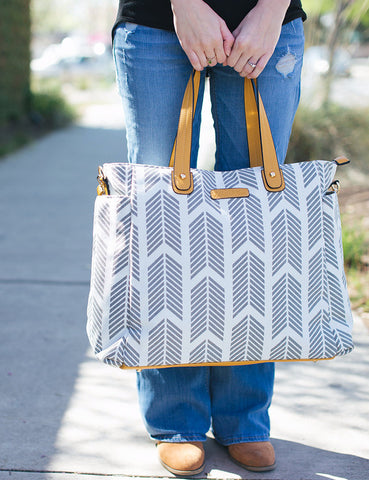 "The ""Sail Away Satchel"" Nautical Navy Bag"