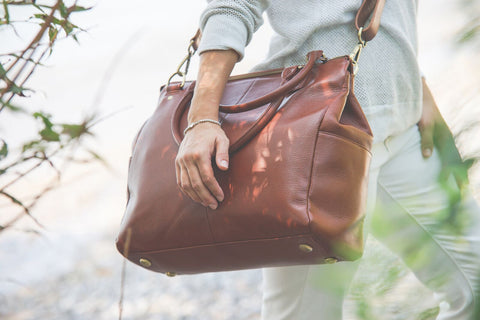 """The Brownstone"" Genuine Leather Bag"