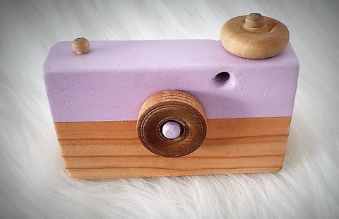"The ""Natural Wood"" Toy Camera ***more color options***"