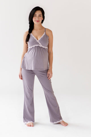 """Dottie- Grey"" Nursing Cami & Pant"