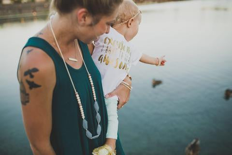 "The ""Emerson"" teething necklace"