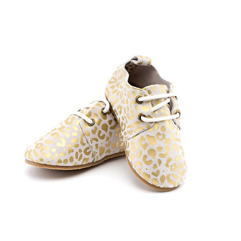 """Gold Leopard"" Leather Shoes"
