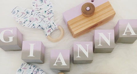 "The ""Hand-Painted Ombre"" Wood Letter Blocks ***more colors***"