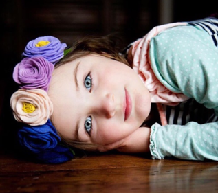 """Blueberry Bliss"" Flower Crown"