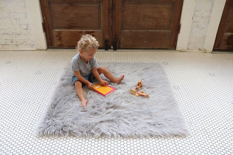 "The ""Faux Fur"" Rug and Play Mat ***more color options***"