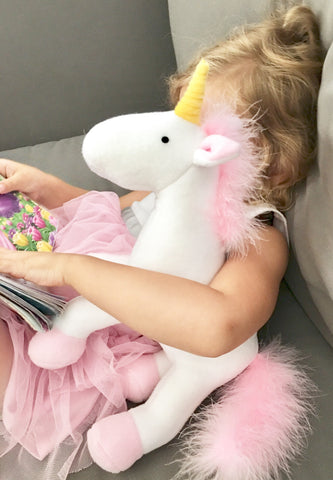 "The ""Fluffy Unicorn"" Stuffed Animal *more colors*"