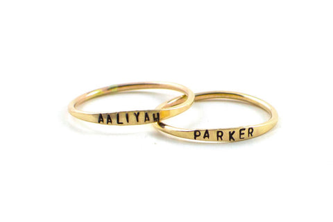 Stackable Name Ring *more colors*