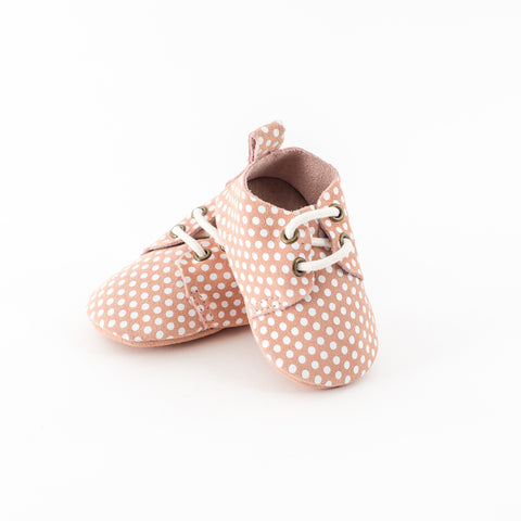 """Pink Dots Oxford"" Leather Shoes"