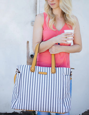 "The ""Sail Away Satchel"" Anchor Grey Bag"