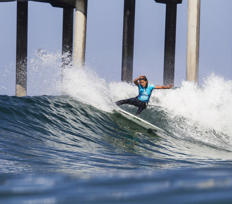 Malia Manuel at the Vans US Open of Surfing