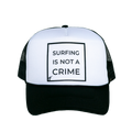 surfing is not a crime trucker hat