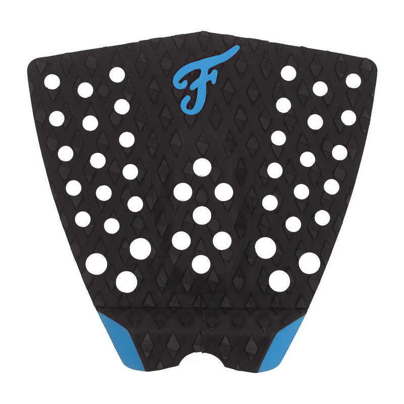 Black with blue accents - Bondi Model Traction pad by Famous Surf Supply