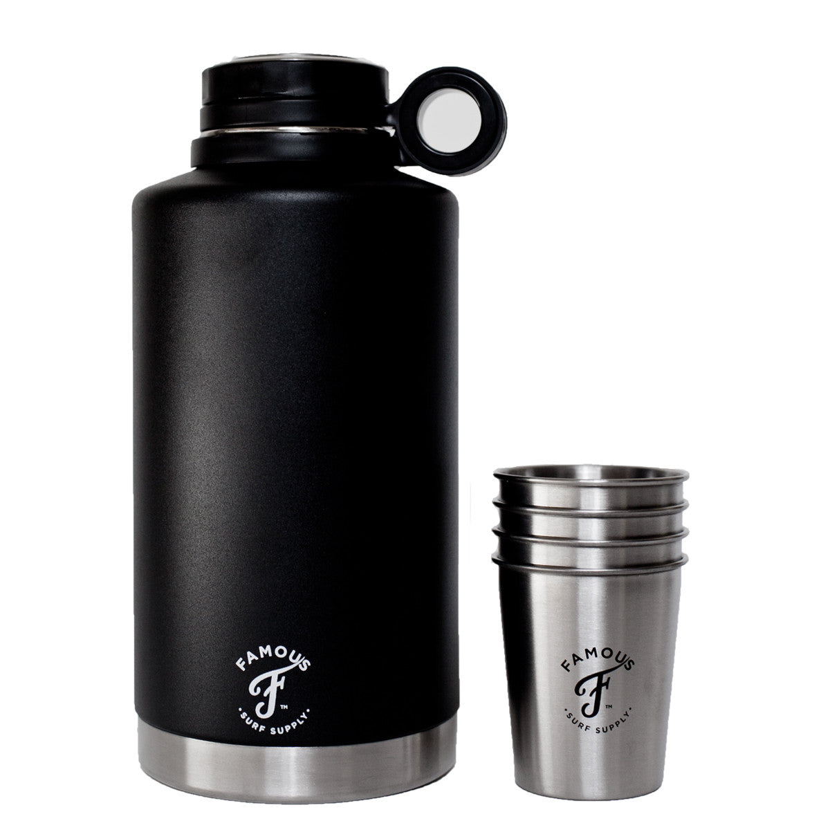 64oz Growler Flask With Cups Famous Surf