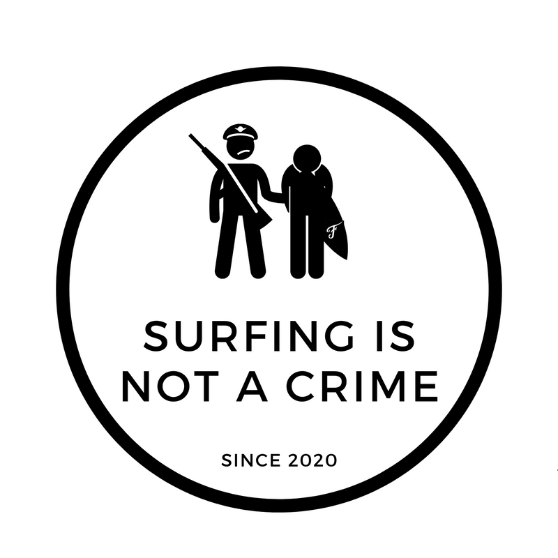 Surfing is Not a Crime Sticker Circle
