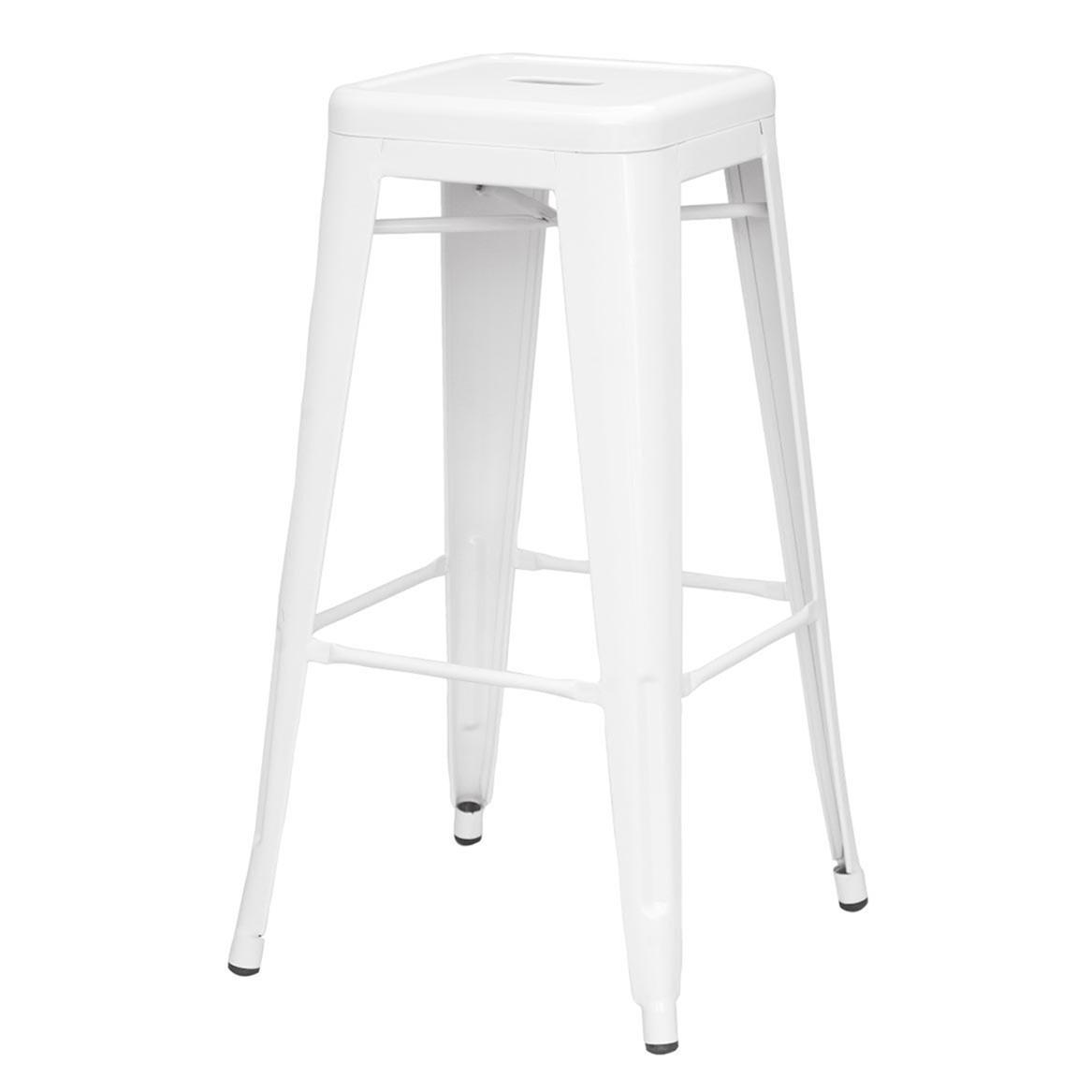 Astonishing Sovo Merah Metal Backless Bar Stool White Set Of 4 Andrewgaddart Wooden Chair Designs For Living Room Andrewgaddartcom