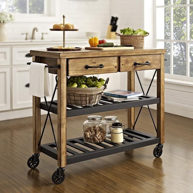Crosley Roots Rack Industrial Kitchen Cart: Winsome Anthony Kitchen Cart Stainless Steel