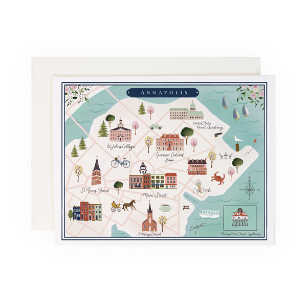 Annapolis Map - Anchor Point Paper Co.
