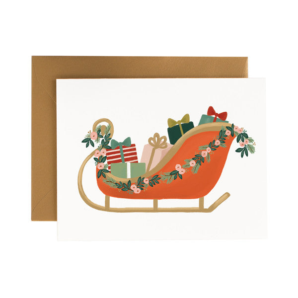 Christmas Sleigh - Anchor Point Paper Co.