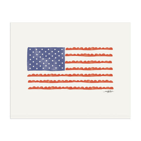 American Flag Print - Anchor Point Paper Co.