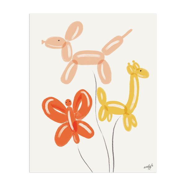 Balloon Animals Art Print - Anchor Point Paper Co.