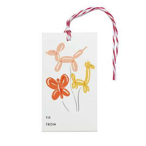 Balloon Animals Gift Tag - Anchor Point Paper Co.
