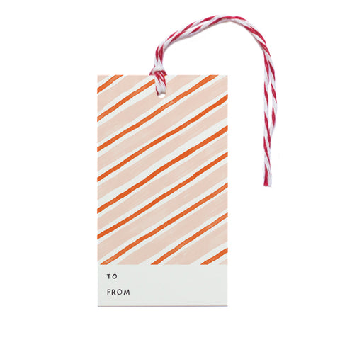 Candy Cane Stripes Gift Tag - Anchor Point Paper Co.