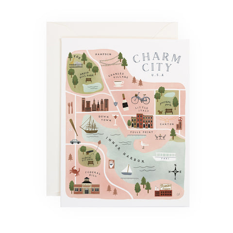 Charm City Map - Anchor Point Paper Co.