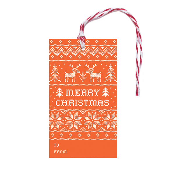Christmas Cross Stitch Gift Tags - Anchor Point Paper Co.