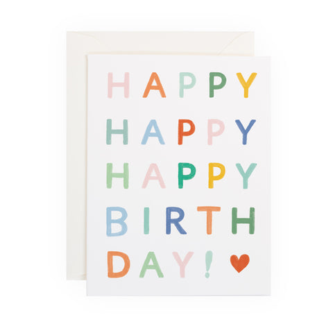 Colorful Happy Birthday - Anchor Point Paper Co.