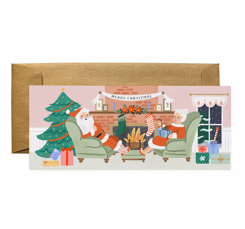 Fireplace Scene - Anchor Point Paper Co.