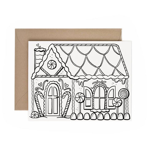 Color-In Gingerbread House