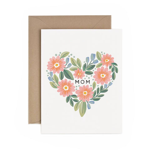 Mom Botanical Heart - Anchor Point Paper Co.