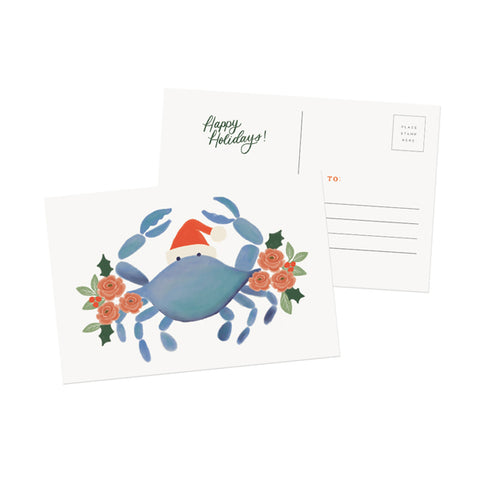Christmas Crab Postcard - Anchor Point Paper Co.