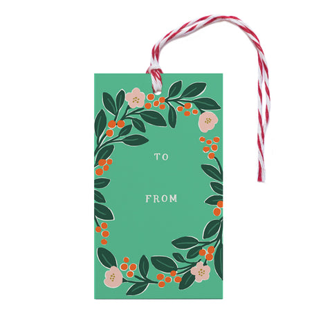 Holiday Greenery Gift Tag - Anchor Point Paper Co.