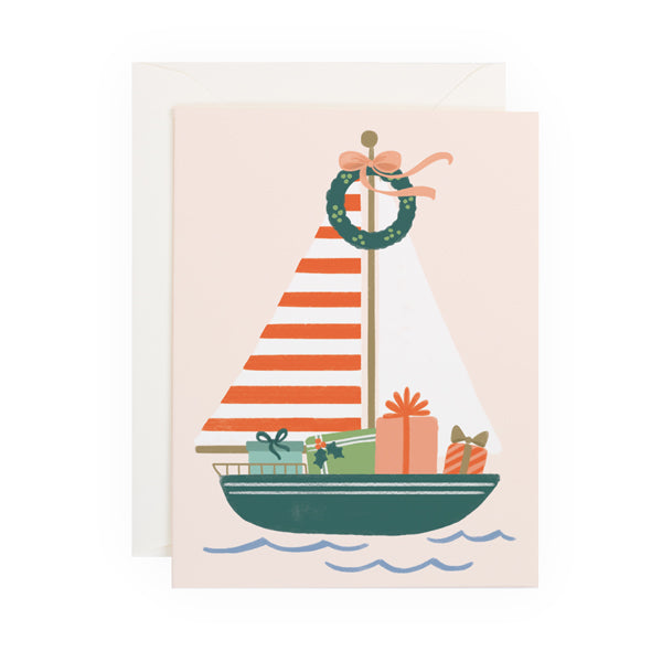 Holiday Sailboat - Anchor Point Paper Co.