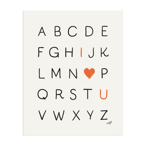 Love Alphabet Print - Anchor Point Paper Co.
