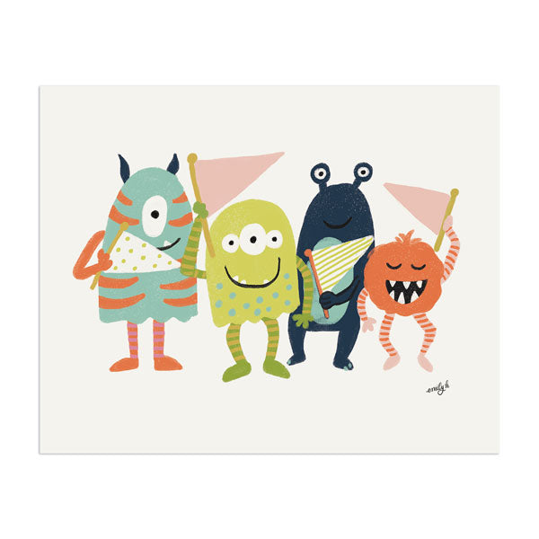 Monsters Print - Anchor Point Paper Co.