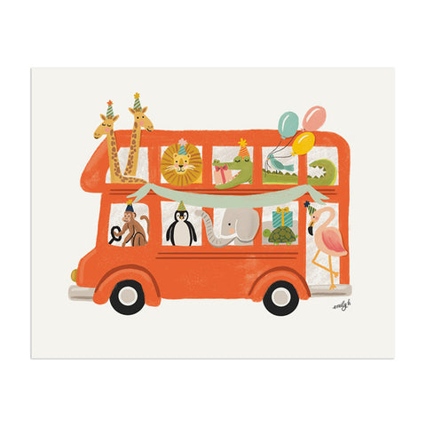 Animal Bus Print - Anchor Point Paper Co.
