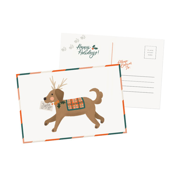 Holiday Dog Postcard - Anchor Point Paper Co.