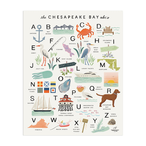 Chesapeake Bay Alphabet (Whimsicality Exclusive) - Anchor Point Paper Co.