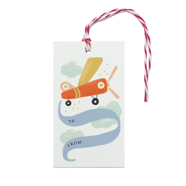 Airplane Gift Tag